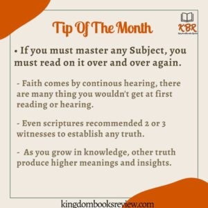 reading tip of the month of november